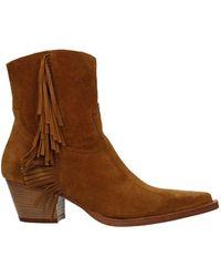 Pinko Ankle Boots Zenzero Suede - Brown