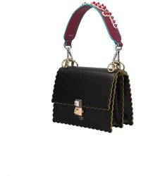 Fendi Shoulder Strap Handle Leather - Purple