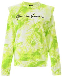 Versace Tie-dye Sweatshirt - Yellow
