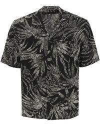 Saint Laurent Palms Print Shirt - Black