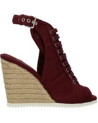 Prada Sandals Fabric - Red