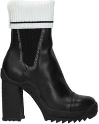 Karl Lagerfeld Ankle Boots Voyage Leather - Black