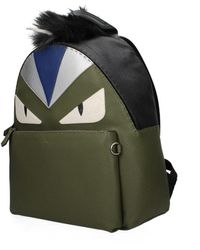 Fendi Green Backpack And Bumbags