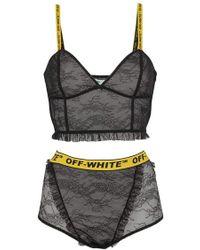Off-White c/o Virgil Abloh - Top + Short Underwear Lingerie - Lyst