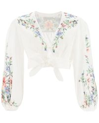 Zimmermann Juliette Top With Embroideries - Multicolour
