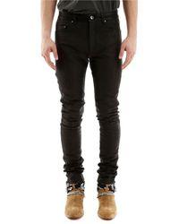Amiri Python Print Leather Pants - Black