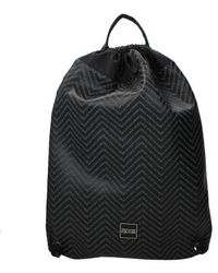 Versace Jeans Backpack And Bumbags Couture Man Black