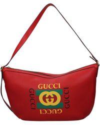 Gucci Print Half-moon Hobo Bag - Red