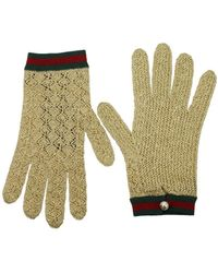 Gucci Gloves Woman Gold - Multicolor