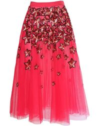 Elisabetta Franchi - Tulle Skirt With Embroidered Stars - Lyst