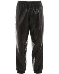 Burberry Leather joggers - Black