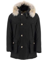 Woolrich Arctic Parka With Coyote Fur - Black