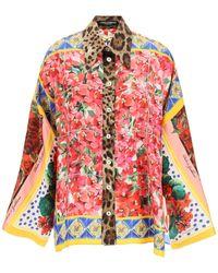 Dolce & Gabbana Printed Shirt Silk - Red