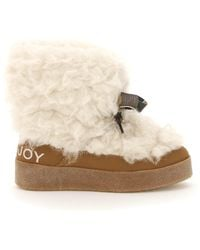 Khrisjoy Alpaca Ankle Boots - Natural