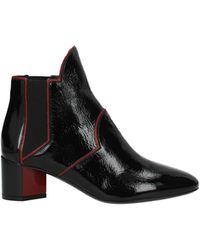 Pierre Hardy Ankle Boots Patent Leather - Black