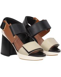 Marni Beige Sandals - Black