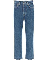 Acne Studios Trash Mece Straight Fit Jeans - Blue