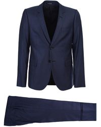 Emporio Armani Blue Single Breasted Suit