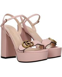 Gucci Sandals Leather - Pink