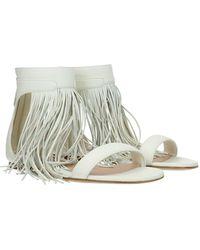 Alexander McQueen Sandals Leather - Natural