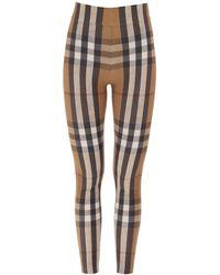 Burberry Check Print leggins - Multicolor