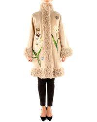 Dolce & Gabbana Coats Women Beige - Natural