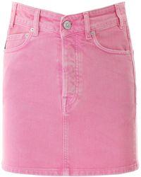 Balenciaga Denim Mini Skirt - Pink