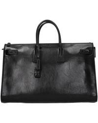 Saint Laurent Black Handbags Sac De Jour