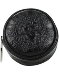 Balmain 3d Print Leather Etui - Black