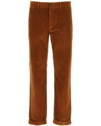 Golden Goose Conrad Chino Trousers In Corduroy - Brown
