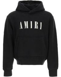 Amiri Logo Embroidery Hoodie - Black