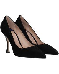 Stuart Weitzman Court Shoes Suede - Black
