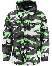 Valentino Camouflage Print Peacoat - Green