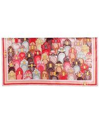 "Ferragamo Silk Scarf With Iconic Print ""varina"" - Multicolour"