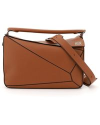 Loewe Large Puzzle Bag - Brown