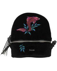 Pollini Backpacks And Bumbags Velvet Bordeaux - Black