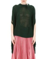 CALVIN KLEIN 205W39NYC Fringed Knit - Green