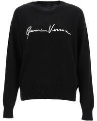 Versace Gv Signature Sweater - Black