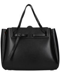 Loewe Handbags Lazo Leather - Black