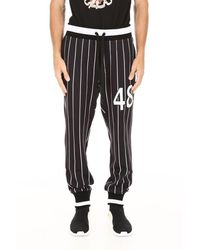 Dolce & Gabbana Joggers With Patch - Black
