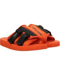 Palm Angels Orange Slippers And Clogs