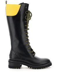 Fabrizio Viti Dolomite Two-tone Leather Boots - Black