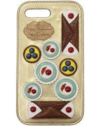 Dolce & Gabbana Dolce&gabbana Iphone Cover Iphone 7/8 Plus Leather - Metallic