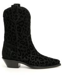 Dolce & Gabbana Gaucho Texan Boots - Black