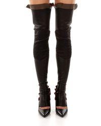 Fendi Socks Half Chap Leather - Black