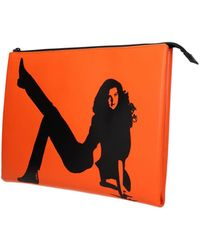 Calvin Klein Clutches Est 1978 Leather - Orange