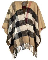 Burberry Check Wool Cashmere Cape - Multicolour