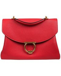 7e525c84f4305e Ferragamo - Gancini Handbag In Calf Leather With Leather Handle And  Removable Shoulder Strap three Internal