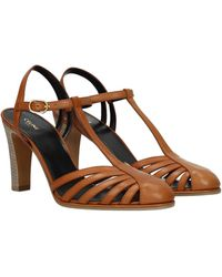 Celine Sandals Leather - Brown