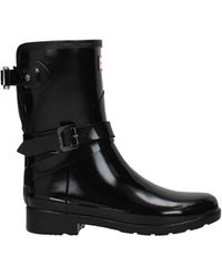 HUNTER Ankle Boots Rubber - Black